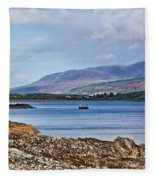 View Of The Isle Of Arran Fleece Blanket