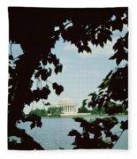 View Of The Jefferson Memorial Fleece Blanket