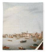 View Of The River Thames From The Adelphi Terrace  Fleece Blanket