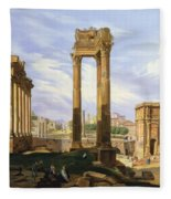 View Of The Roman Forum Fleece Blanket