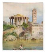 View Of The Sbocco Della Cloaca Massima Rome Fleece Blanket