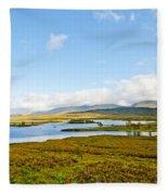 View Over Loch Ba Fleece Blanket