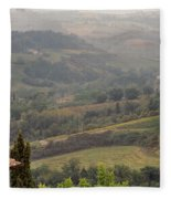 View Over The Tuscan Hills From San Gimignano Italy Fleece Blanket