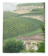 View Over The Vineyards From Saint Emilion France Fleece Blanket