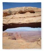View Through Mesa Arch Fleece Blanket