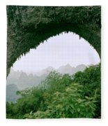 View Through Moon Hill In Guangxi In China Fleece Blanket