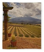 View Toward Mt Shasta Horizontal Fleece Blanket