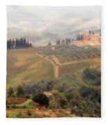 Villa On A Hill In Tuscany Fleece Blanket
