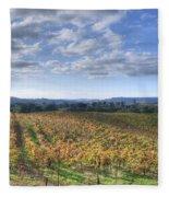 Vines In Fields Fleece Blanket