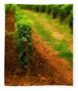 Vineyard In Burgundy France Fleece Blanket