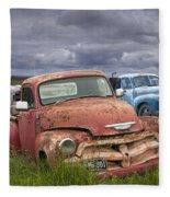 Vintage Auto Junk Yard Fleece Blanket