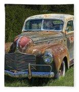 Vintage Automobile No.0488 Fleece Blanket
