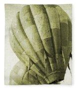 Vintage Ballooning II Fleece Blanket