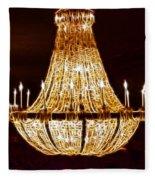 Vintage Ballroom Chandalier Fractal Fleece Blanket