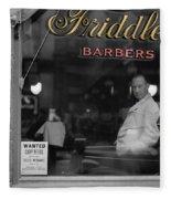 Vintage Barbershop 2 Fleece Blanket