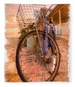 Vintage  Bicycle Fleece Blanket