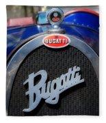 Vintage Bugatti Fleece Blanket
