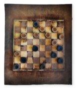 Vintage Checkers Game Fleece Blanket