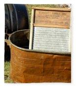 Vintage Copper Wash Tub Fleece Blanket