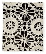 Vintage Crocheted Doily Fleece Blanket