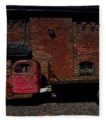 Vintage Distillery Truck Fleece Blanket