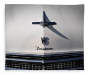 Vintage Ford Fairlane Hood Ornament Fleece Blanket