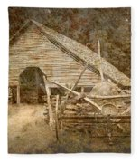 Vintage Looking Old Barn In The Great Smokey Mountains Fleece Blanket