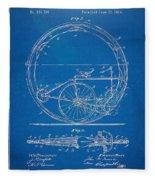 Vintage Monocycle Patent Artwork 1894 Fleece Blanket