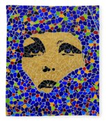 Vintage Mosaic Sign 2 Fleece Blanket