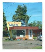 Vintage Motel Fleece Blanket