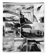 Vintage Niagara Falls Fleece Blanket