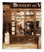 Vintage Paris 4 Fleece Blanket