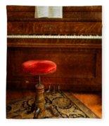 Vintage Piano Fleece Blanket