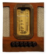 Vintage Radio Fleece Blanket
