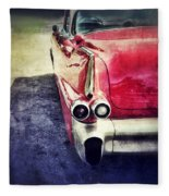Vintage Red Car Fleece Blanket