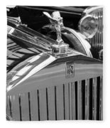 Vintage Rolls Royce 2 Fleece Blanket