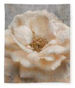 Vintage Rose I Square Fleece Blanket