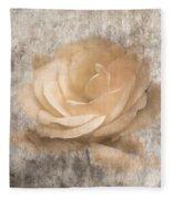 Vintage Rose IIi Fleece Blanket