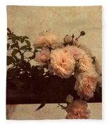 Vintage Roses Fleece Blanket