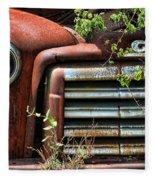 Vintage Rusty Dusty Gmc Graveyard Truck Fleece Blanket