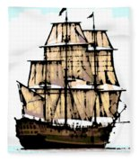 Vintage Sails Fleece Blanket