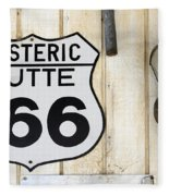 Vintage Sign Hysteric Butte 166 Fleece Blanket