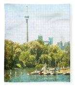 Vintage Toronto Fleece Blanket