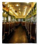 Vintage Trolley 7 Fleece Blanket