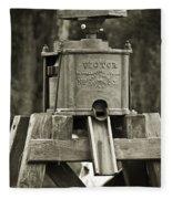 Vintage Water Pump Fleece Blanket