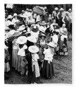 Vintage Workers Fleece Blanket