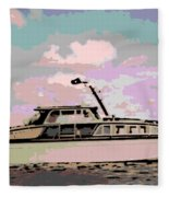 Vintage Yacht Fleece Blanket