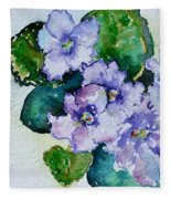 Violet Cluster Fleece Blanket