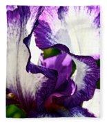 Violet Edges Fleece Blanket