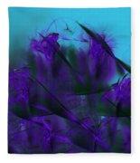 Violet Growth Fleece Blanket